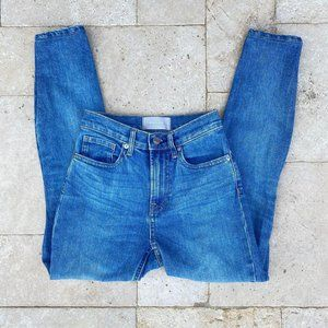 Everlane High Rise Skinny Jeans Mid Blue 25 Ankle
